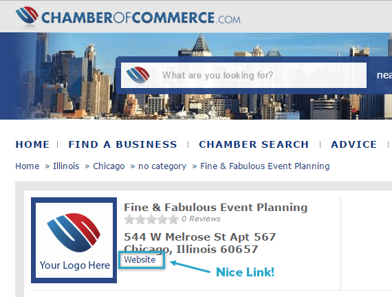 Business Affiliation Link Example
