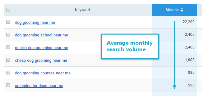 Average Monthly Search Volume
