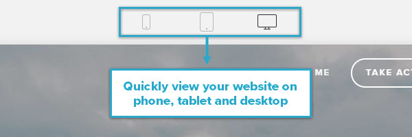 Squarespace Device View - Quickly view your website on phone, tablet and desktop