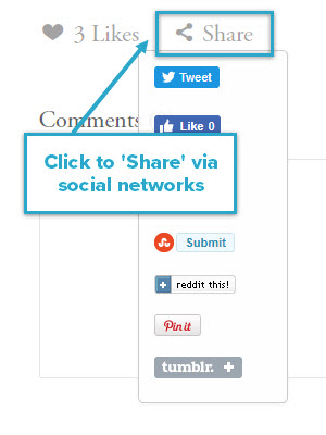 Click to 'Share' via social networks
