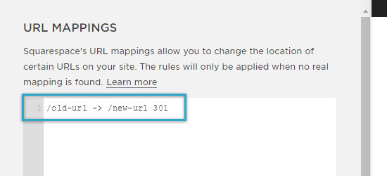 Squarespace URL Mappings